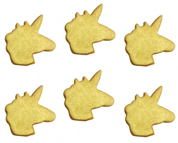 Unicorn Gold  Sugarcraft Toppers